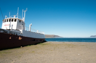 La nave Garðar sulla strada per Látrabjarg