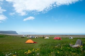 Il campeggio di Breiðavík