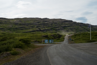 Autostop all'incrocio di Flókalundur