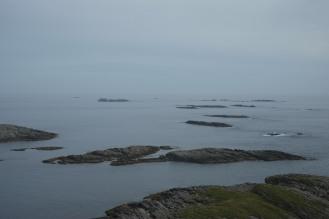 La vista dal faro di Skomvær