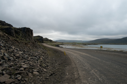 La gravel road dalle parti di Broddanes