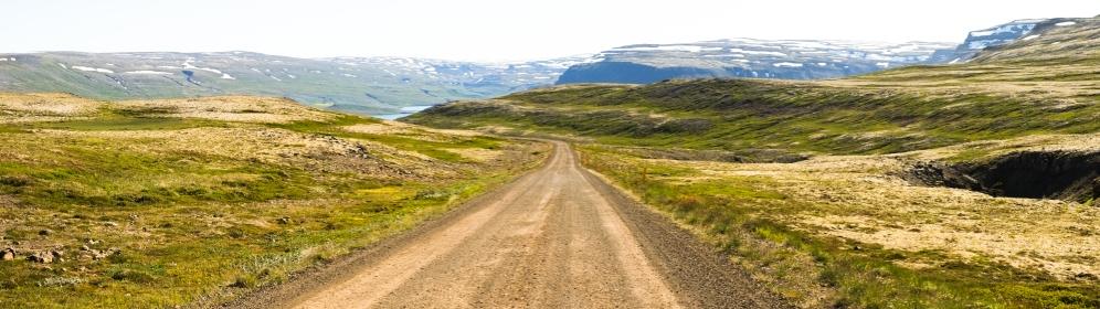 La strada per la spiaggia di Rauðasandur