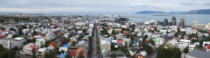Reykjavík dal campanile di Hallgrímskirkja