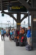 Stazione di Boden, in attesa del treno per Narvik