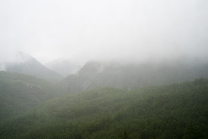 Dal finestrino del treno in arrivo a Narvik dalla Svezia